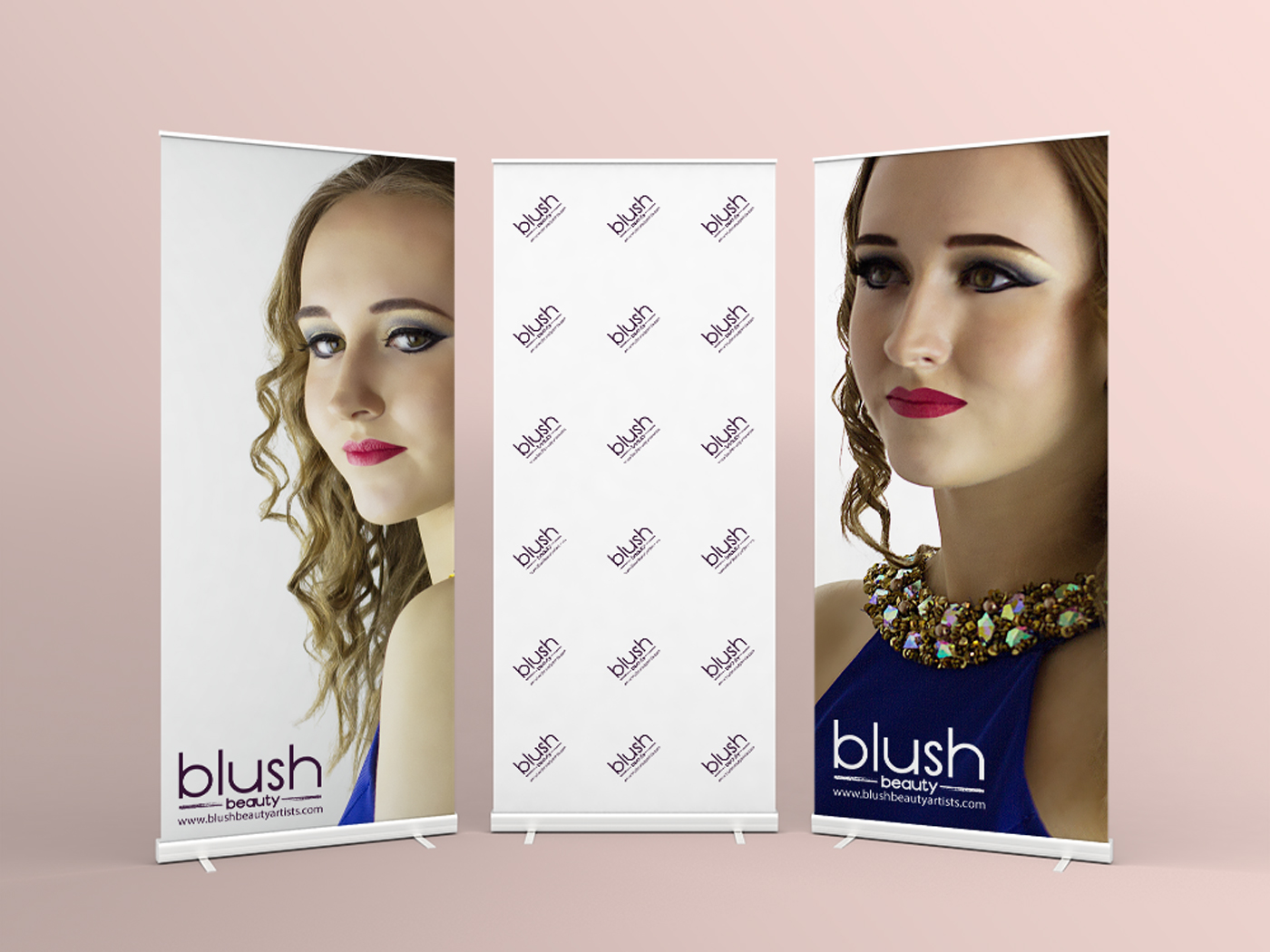 Roller banners were designed and supplied
